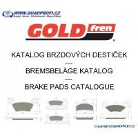Katalog brzdových destiček Goldfren