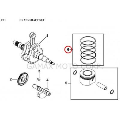 Piston ring set - 924005 - for Gamax AX 425 TGB 425