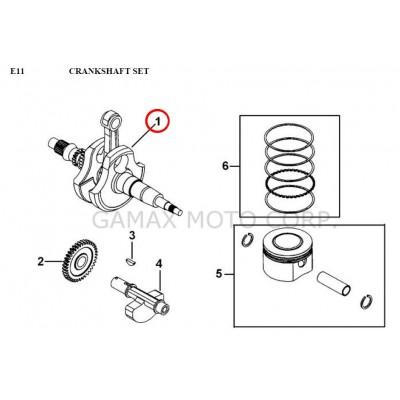 Crankshaft - 924059 - for Gamax AX 430 TGB 425