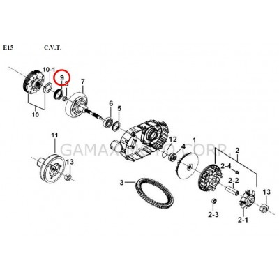 One way bearing - 924545 - for Gamax AX 430 TGB 425