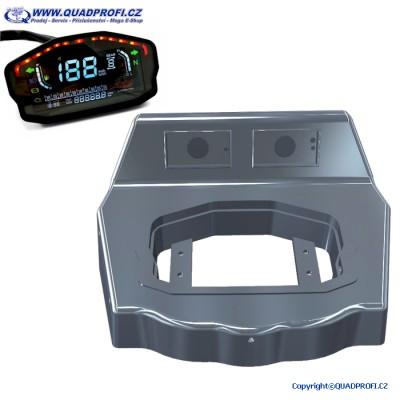 Tachometr Digitální barevný + Montážní kryt Kaplička tachometru SET pro GAMAX AX 250 300