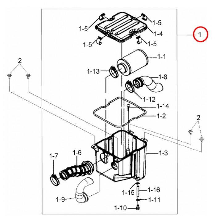 Airbox Assy -A7200-RCA-0000 - 17200-RCA-0000 - E-Ton ETON Gamax SYM 250 300