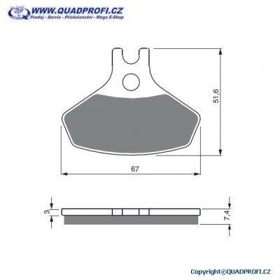 Brake Pads Goldfren K5 for CanAm DS 450