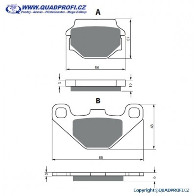 Brake Pads Goldfren K5 for SMC Jumbo 250 300 301 302 320
