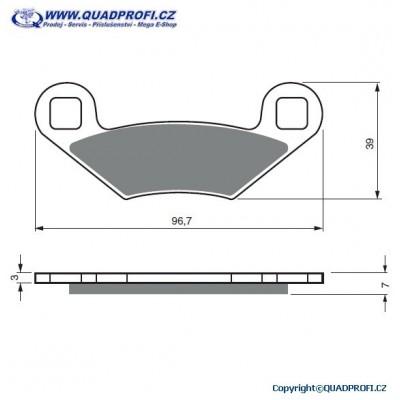 Bremsbeläge Goldfren K5 für Polaris Sportsman X2 500 800