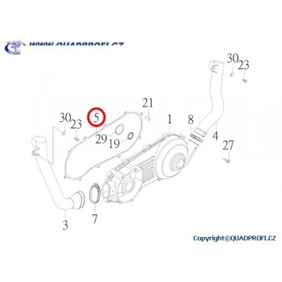 GASKET CRANKCASE COVER - 15481-JOW-00