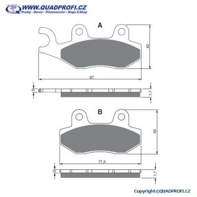 Brake Pads Goldfren K5 for CFMoto Terracross 500 600 625 800