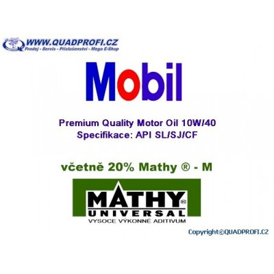 Motorový olej Mobil Super 10W40 vč. 20% MATHY