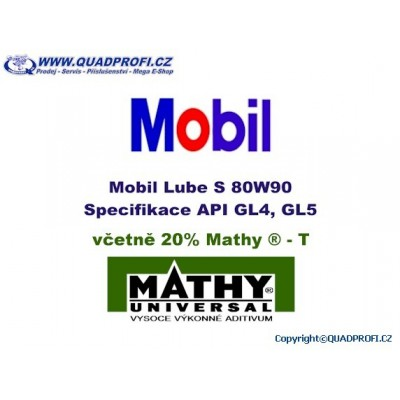 Gear Oil Mobil Lube 80W90 incl. 20% MATHY