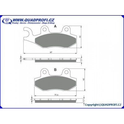 Brake Pads Goldfren K5 for Yamaha YFZ 450