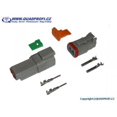 Conector waterproof pair DT - 2PIN - 10A