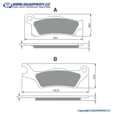 Brake Pads Goldfren 310 S3