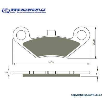 Brake Pads Goldfren K5 for Goes 500 520 625