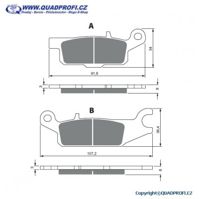 Brake Pads Goldfren K5 for Yamaha Grizzly 700 550