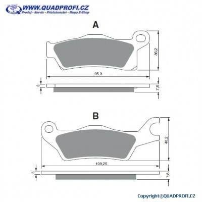Brake Pads Goldfren S33 Offroad for CanAm G2 570 650 800 1000 Mod 2012-