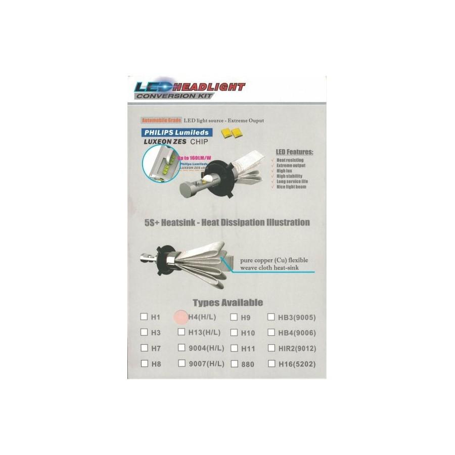 Car LED NSSC 5S+ Headlight Bulb H7 7000LM - QUADPROFI CZ