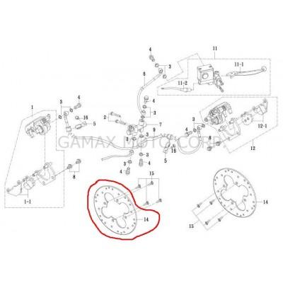 Kotouč brzdový přední Gamax AX 600 - náhrada za 69211-AX100-000