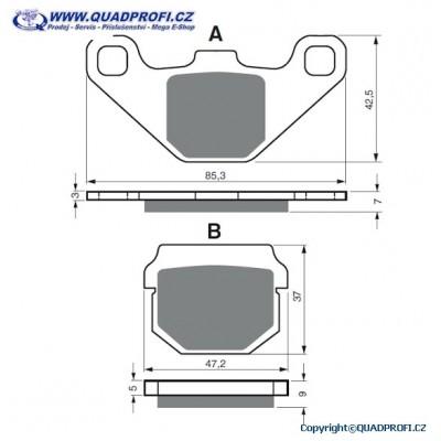 Brake Pads Goldfren K5 for E-Ton Yukon Viper 150