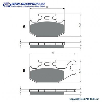 Brake Pads Goldfren S33 Offroad for CanAm G1 500 650 800 Mod 2008-2011