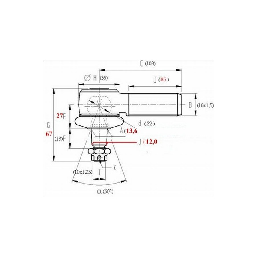 ball joint qpp rs1 80mm for upper a