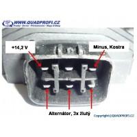 Regulátor nabíjení QPE 400W pro Suzuki Kingquad 700 750 Kawasaki Yamaha