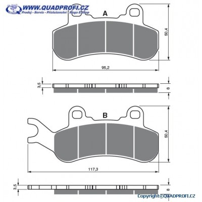 Brake Pads Goldfren S33 for CanAm Maverick 900 Turbo