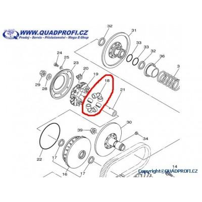 CVT Válečky - 3B4-17632-01-00 - pro Yamaha Grizzly 700