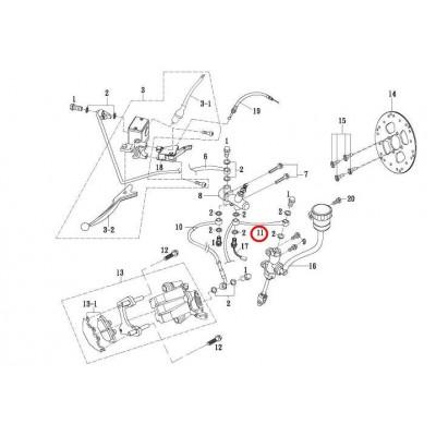 Bremsschlauch - 58120-AX300-000 - pro Gamax AX 430 600