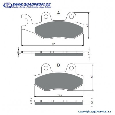 Brake Pads Goldfren K5 for Yamaha Raptor YFM 700R