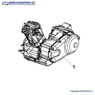 Motor komplet SYM 250 ccm - AA000-RB2-0000 - pro ETon E-Ton Vector Gamax TGB