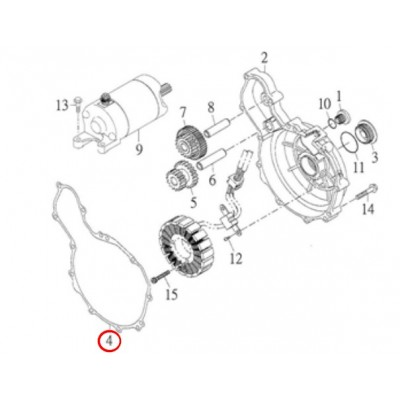 Těsnění karter levý - 15481-CGV-00